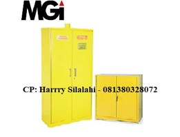 Jual Steel Chemical Storage Cabinet, 2 Doors (Hazardous Material)
