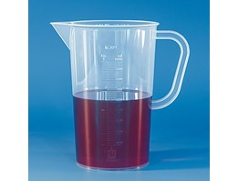 Jual Graduated beaker, PP, embossed scale POLYPROPYLENE