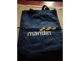 Jual Tas Spunbond Uk.30*40 Warna Biru Dongker Model jahit Samping Press Tali