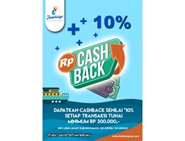 Jual CASHBACK UP TO 10% kargo & logistik