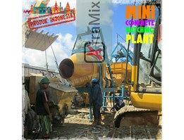 Jual Mini Batching Plant Mixer Molen Beton Ready Mix Semen Cor Xtramix