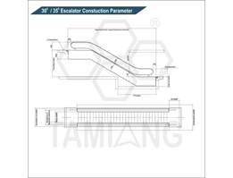 Jual Tamiang 300 350 Escalator Contruction Parameter