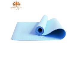 Jual Matras Yoga TPE Single Layer 6mm Biru / Matras Senam Yoga / Alas Senam Murah / Yoga & Perlengkapannya