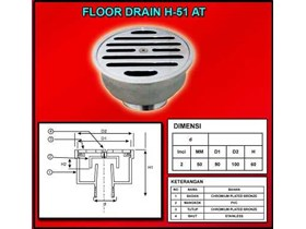 Floor Drain Type H51-AT