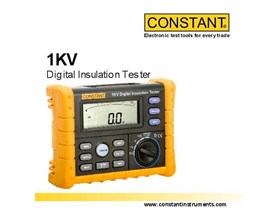 Constant 1KV Megger Digital Insulation Tester 1000 Volt