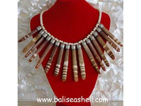 Necklace Shell Unix Coral Part  / Kalung Koral Coklat Besar