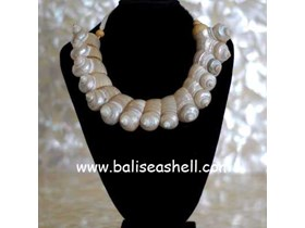 Necklace Shell Indonesia From Turbo / Kalung Kerang Turbo Putih