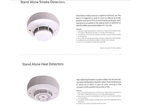 SMOKE DETECTOR, HEAT DETECTOR DENGAN BATTERY STAND ALONE Independent Smoke and Heat Detector with 10 years battery shelf-life