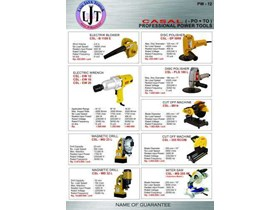 PW-12 CASAL POWER TOOLS ELECTRIC BLOWER, POLISHER, ELECTRIC WINCH, MAGNETIC DRILL, CUT OFF, MITER SAW PROFESSIONAL POWER TOOLS