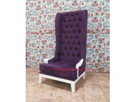 Jepara Mebel , High Back Chair with Arm, Painted furniture | CV. DE' EF INDONESIA Defurnitureindonesia DFRIC-149