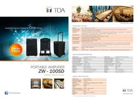 ZW-100SD TOA NEW WIRELESS PORTABLE AMPLIFIER