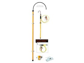 Insulated Rescue Hook And Static Discharge Stick - SALISBURY' S
