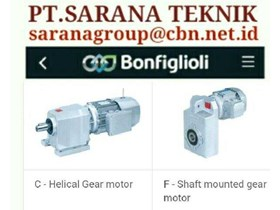 JUAL BONFIGLIOLI GEAR MOTOR HELICAL BEVEL PT SARANA TEKNIK BONFIGLIOLI WORM GEAR MOTOR- GEAR MOTOR PLANETARY - GEARBOXES GEAR