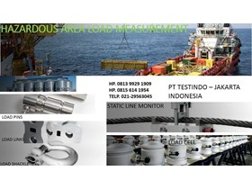 Load pins, load links, load shackles, static running line monitor