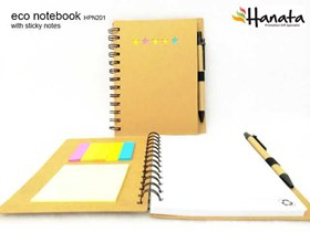 Eco Notebook with Sticky Notes