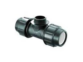 Compression Male Thread Tee Fitting HDPE