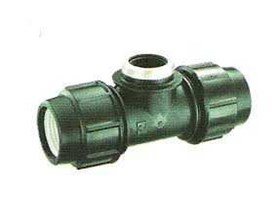 Compression Female Thread Tee Fitting HDPE