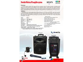 Portable Wireless PA System DP107S With Bluetooth