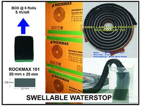 SWELLABLE WATERSTOP ROCKMAX 101 ( 25 mm x 20 mm)
