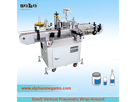 SOLO Vertical  Pneumatic Wrap-Around Labeling Machine