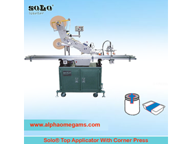 SOLO Top Applicator W/ Corner Press Device Labeling Machine