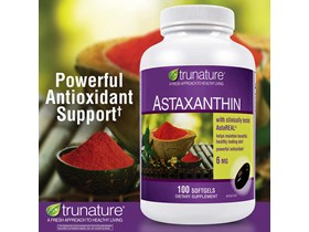 Trunature Astaxanthin 6 mg , 100 Softgels.