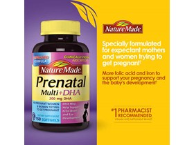 Nature Made Prenatal Multi + DHA, 150 Softgels.