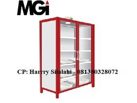 Steel Chemical Storage Cabinet, 2 Glass