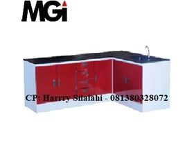 Wall Bench Polos Type I (Type i) / Meja Lab Rapat Dinding