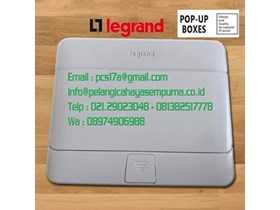 Legrand Pop Up 4 Module White Stop Kontak lantai 54031