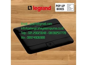 Legrand 4 Module Pop-Up Floor Box Stop Kontak Meja Matt Black 54026