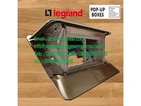 Legrand Pop up Floor Boxes 4 modules stainless steel 54021