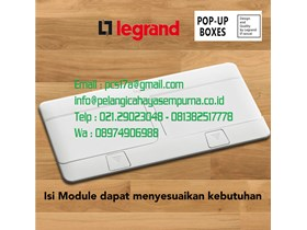Legrand Pop-Up Socket Box Glossy White 2x4 8 Modules 054033