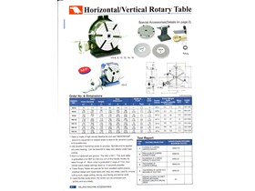Vertex Rotary Table Mesin Milling HV-8