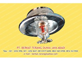 SPRINKLER HEAD 68 DERAJAT VIKING WITH CELLING PLATE SEMI RECESSED