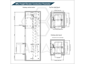 Tamiang MRL Freight Elevator Constructions Parameter