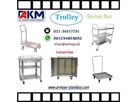 Jual Trolley Stainless Steel dengan custom size