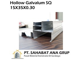 Hollow Galvalum SQ 15X35X0.30