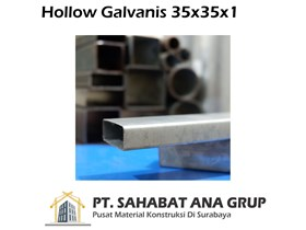 Hollow Galvanis 35x35x1