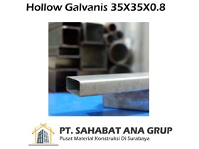 Besi Hollow Galvanis 35X35X0.8 mm