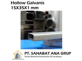 Besi Hollow Galvanis 15X35X1 mm