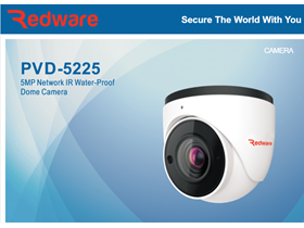 Dome Camera Redware PVD-5225