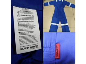Baju Kerja Anti Api/Flame Retardant Coverall SAFETY NOMEX rompi safety