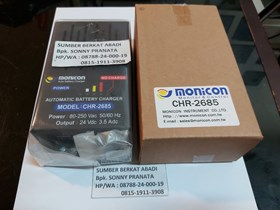 MONICON CHR-2685 CHR 2685 CHR2685 AUTOMATIC BATTERY CHARGER 24V 3.5A