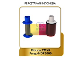 Ribbon Color YMCK - Fargo HDP5000 P/N: 0840-51 - Suku Cadang Ribbon Printer Kartu