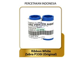 RIBBON WHITE MONOCHROME - ORIGINAL ZEBRA P330i - Consumable Tinta Printer Kartu