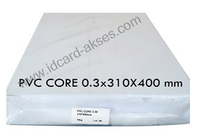 BAHAN ID CARD PVC SHEETS CORE OFFSET 0.3 A3-310x400 mm