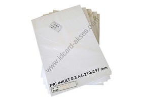 PVC ID CARD  INKJET 0.3 A4-210x297 mm 50 Sheets /pak