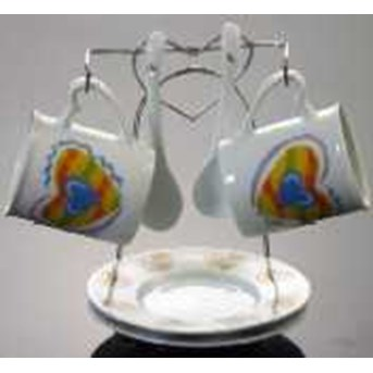 Cup Saucer Porselin Set