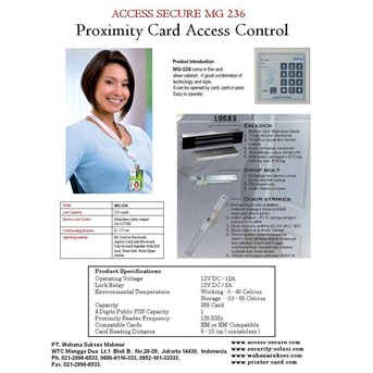 ACCESS SECURE MG 236 Proximity Card Access Control System